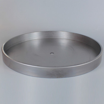 1/8ips Center Hole - 10in Flat Canopy/Base without Wire Way - Unfinished Steel