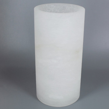 8in. x 4in. Alabaster Cylinder Shade with 1-5/8 in. Hole