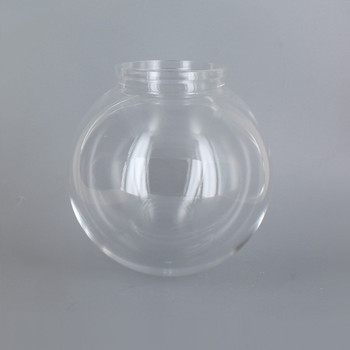 6in Diameter X 3-1/4in Fitter Acrylic Ball - Clear