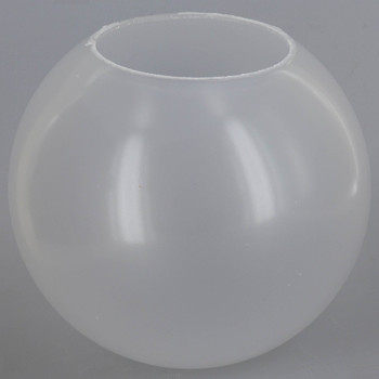 6in Diameter X 3in Diameter Hole Acrylic Neckless Ball - Frosted