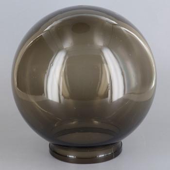6in Diameter X 3-1/4in Fitter Acrylic Ball - Bronze