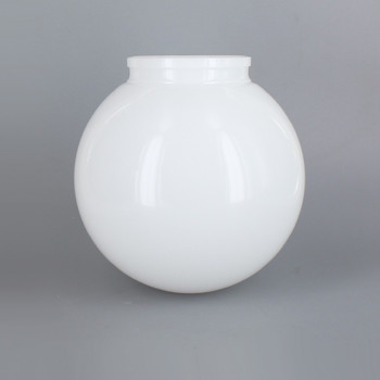 6in Diameter X 3-1/4in Fitter Acrylic Ball - White
