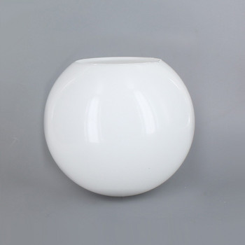 6in Diameter X 3in Diameter Hole Acrylic Neckless Ball - White