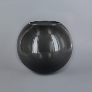 6in Diameter X 3in Diameter Hole Acrylic Neckless Ball - Smoked