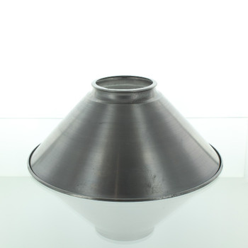 10in. Unfinished Steel Cone Shade with 3-1/4in. Neck