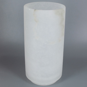 8in. x 4in. Alabaster Cylinder Shade with 3-1/4 Necked Fitter