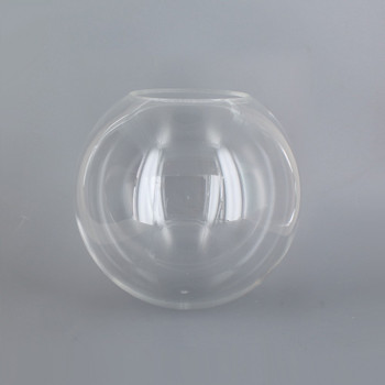 6in Diameter x 3in Diameter Hole Acrylic Neckless Ball - Clear