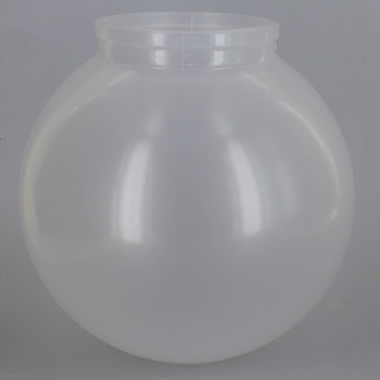 6in Diameter X 3-1/4in Fitter Acrylic Ball - Frosted