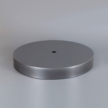 1/8ips Center Hole - 8in Flat Canopy/Base without Wire Way - Unfinished Steel