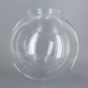 8in Diameter X 4in Fitter Acrylic Ball - Clear