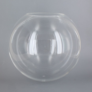 8in Diameter X 4in Diameter Hole Acrylic Neckless Ball - Clear