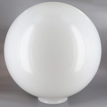 12n Diameter X 4in Fitter Egg Shaped Acrylic Ball - White