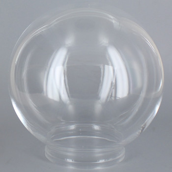14in Diameter X 6in Fitter Acrylic Ball - Clear