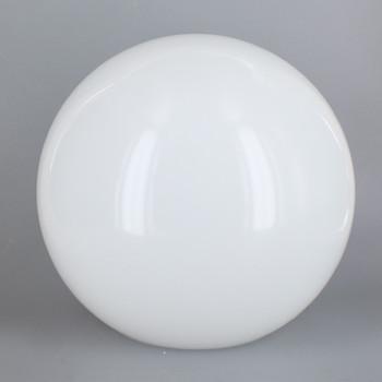 8in Diameter X 4in Diameter Hole Acrylic Neckless Ball - White