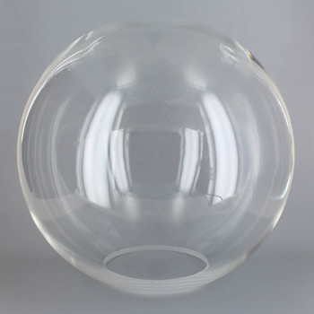 10in Diameter X 4in Diameter Hole Acrylic Neckless Ball - Clear
