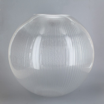 10in Diameter X 4in Diameter Hole Acrylic Neckless Ball - Clear Prismatic
