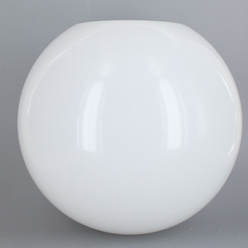 10in Diameter X 4in Diameter Hole Acrylic Neckless Ball - White