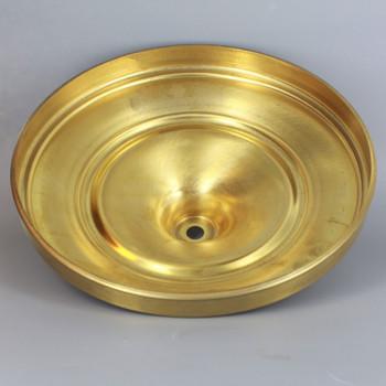 10-3/8 in. Diameter Floor Lamp Base - Unfinished Brass