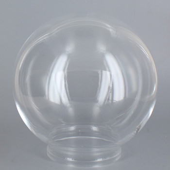 10in Diameter X 4in Fitter Acrylic Ball - Clear