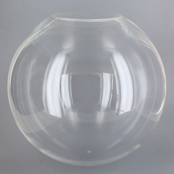 12in Diameter X 5-1/4in Diameter Hole Round Acrylic Neckless Ball - Clear