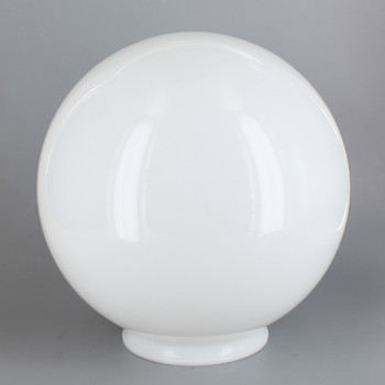 8in Diameter X 4in Fitter Acrylic Ball - White