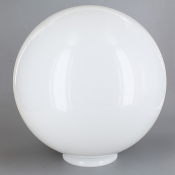 10in Diameter X 4in Fitter Acrylic Ball - White