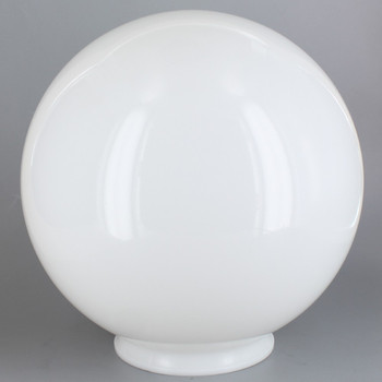 14in Diameter X 6in Fitter Acrylic Ball - White
