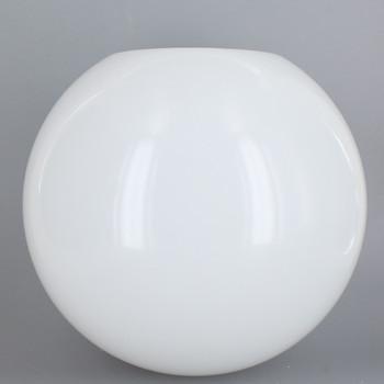 14in Diameter X 5-1/4in Diameter Hole Acrylic Neckless Ball - White