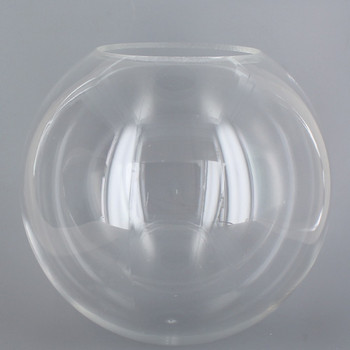 14in Diameter X 5-1/4in Diameter Hole Acrylic Neckless Ball - Clear