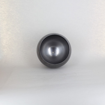 160mm (6-5/16in) Steel Open Ball Lamp Shade With 1/8ips Slip Through Center Hole - Unfinished Steel