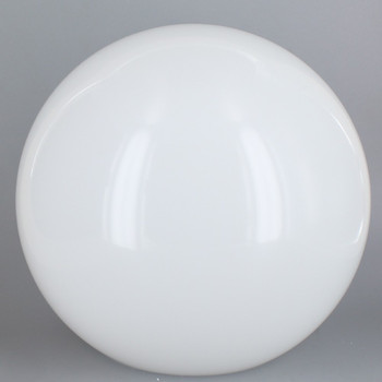18in Diameter X 5-1/4in Diameter Hole Acrylic Neckless Ball - White