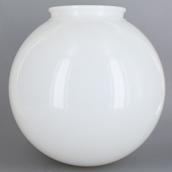 16in Diameter X 6in Fitter Acrylic Ball - White