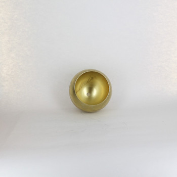 120mm. Unfinished Brass Open Ball Shade with 1/8ips Hole and 3-1/2in. Opening