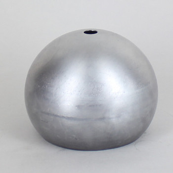 100MM. UNFINISHED ALUMINUM OPEN BALL SHADE WITH 1/8IPS HOLE AND 2-7/8IN. OPENING
