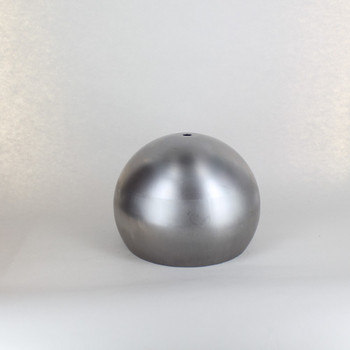 180mm (7in) Steel Open Ball Lamp Shade With 1/8ips Slip Through Center Hole - Unfinished Steel