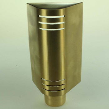 Brass Library Shade Vented With Swivel Cup End - 1/8ips Threaded Hole