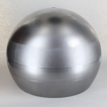 350mm (13-3/4in) Steel Open Ball Shade With 1/8ips Slip Through Center Hole - Unfinished Steel