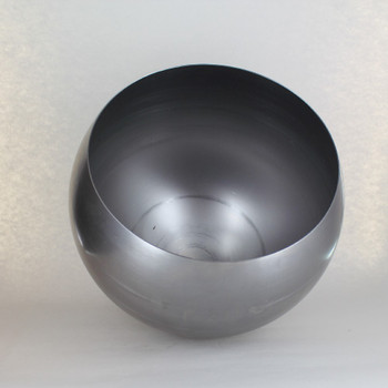 300MM (11-13/16in) STEEL OPEN BALL SHADE WITH 1/8ips Slip Through Center Hole - Unfinished Steel