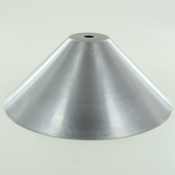 7in. Unfinished Steel Cone Shade with 1/8ips. Slip Through Hole