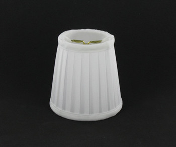 3-1/2in. Off White Pleated Candelabra Bulb Clip On Lamp Shade