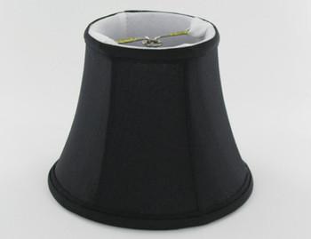 4in. Black Candelabra Bulb Clip On Lamp Shade