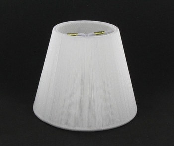 4in. Off White String with Paper Lining Empire Shape Candelabra Bulb Clip On Lamp Shade