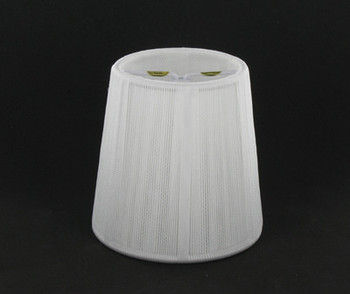 4in. Off White Empire Shape Candelabra Bulb Clip On Lamp Shade