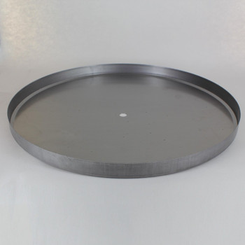 1/8ips Center Hole - 12-3/4in Flat Canopy/Base Without Wire Way - Unfinished Steel