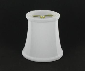 4in Candelabra Bulb Clip On Lamp Shade - White
