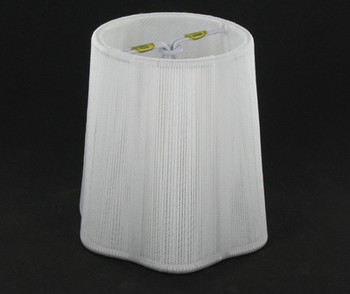4in. Off White String with Scallop Shape Candelabra Bulb Clip On Lamp Shade