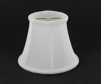 5in. White Candelabra Bulb Clip On Lamp Shade