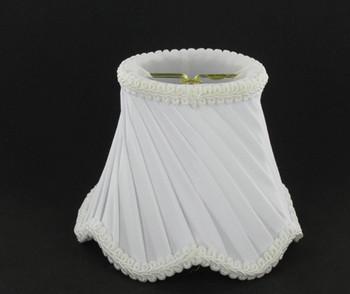 4in. White Swirl Candelabra Bulb Clip On Lamp Shade