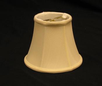 4in. Egg Shell Candelabra Bulb Clip On Lamp Shade