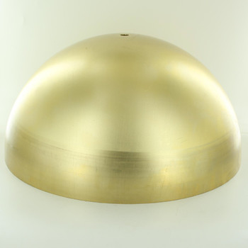 300mm. Unfinished Brass Dome Shade with 1/8ips. Slip Through Hole